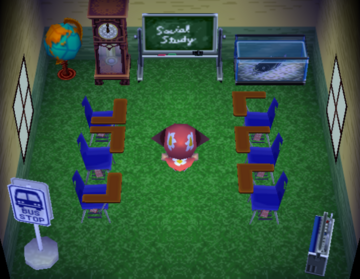 Interior of Spork's house in Animal Crossing
