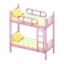 Bunk Bed (Pink - Colorful Lines)
