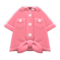 Front-Tie Button-Down Shirt (Pink) NH Icon.png