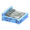 Frozen Bed (Ice Blue - Gray) NH Icon.png