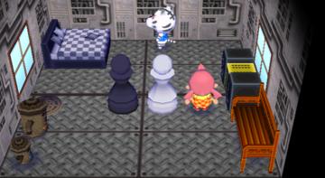 Interior of Rolf's house in Animal Crossing: City Folk
