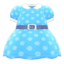 Belted Dotted Dress (Light Blue) NH Icon.png