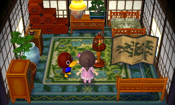 Interior of Bill's house in Animal Crossing: New Leaf