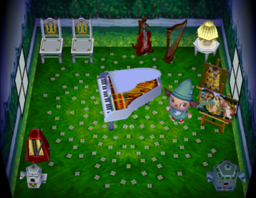 Interior of Stella's house in Animal Crossing
