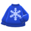 Snowflake Sweater (Blue) NH Icon.png