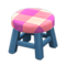 Wooden Stool (Blue - Pink) NH Icon.png