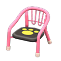 Baby Chair (Pink - Paw Print) NH Icon.png