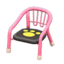 Baby Chair (Pink - Paw Print)