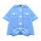 Front-Tie Button-Down Shirt (Blue) NH Icon.png