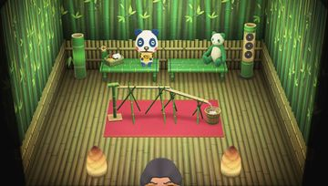Interior of Chester's house in Animal Crossing: New Horizons