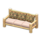 Log Extra-Long Sofa (White Wood - Bears) NH Icon.png