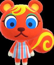 Caroline, an Animal Crossing villager.