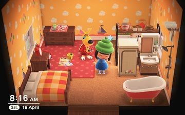 Interior of Carrie's house in Animal Crossing: New Horizons