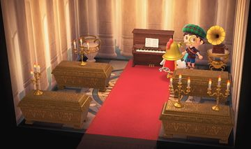Interior of Knox's house in Animal Crossing: New Horizons