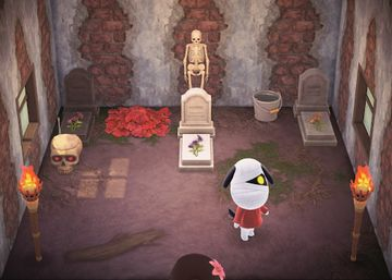 Interior of Lucky's house in Animal Crossing: New Horizons