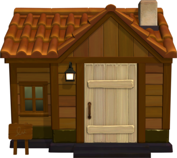 Exterior of Spork's house in Animal Crossing: New Horizons