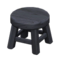 Wooden Stool (Black - None) NH Icon.png