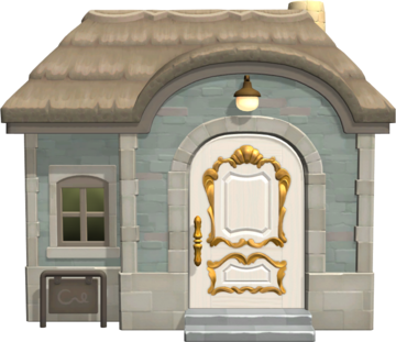 Exterior of Klaus's house in Animal Crossing: New Horizons