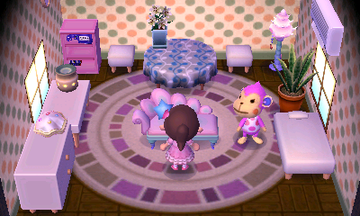 Interior of Nana's house in Animal Crossing: New Leaf