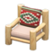 Log Chair (White Wood - Southwestern Flair) NH Icon.png