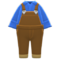 Denim Overalls (Brown) NH Icon.png