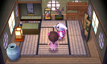 Interior of Annalisa's house in Animal Crossing: New Leaf