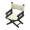 Director's Chair (Black - Natural White) NH Icon.png