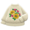 Mom's Hand-Knit Sweater (Flowers) NH Icon.png