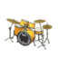 Drum Set (Golden Yellow - Rock Logo)