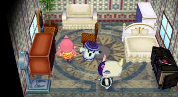 Interior of Rhonda's house in Animal Crossing: City Folk