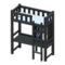 Loft Bed with Desk (Black - Light Blue) NH Icon.png