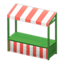 Stall (Green - Red Stripes)