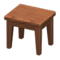 Wooden Mini Table (Dark Wood - None) NH Icon.png