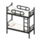 Bunk Bed (Black - White) NH Icon.png