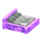 Frozen Bed (Ice Purple - Gray) NH Icon.png