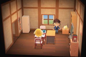 Interior of Benjamin's house in Animal Crossing: New Horizons