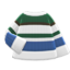 Colorful Striped Sweater (White, Blue & Green) NH Icon.png