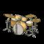 Drum Set (Natural Wood - Vintage Logo)