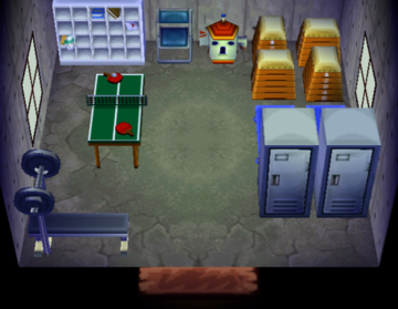 Interior of Deena's house in Animal Crossing