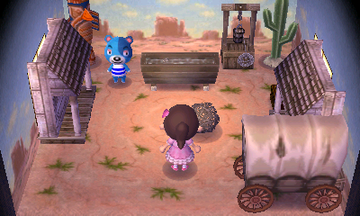Interior of Kody's house in Animal Crossing: New Leaf