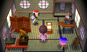 Interior of Gladys's house in Animal Crossing: New Leaf