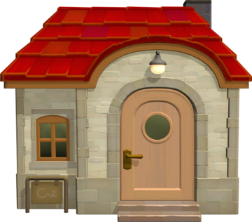 Exterior of Merengue's house in Animal Crossing: New Horizons