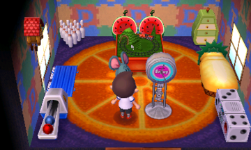 Interior of Samson's house in Animal Crossing: New Leaf