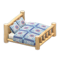 Log Bed (White Wood - Quilted) NH Icon.png