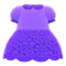 Floral Lace Dress (Purple) NH Icon.png