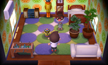 Interior of Peck's house in Animal Crossing: New Leaf