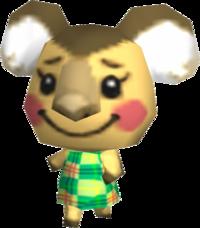Huggy, an Animal Crossing villager.
