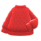 Aran-Knit Sweater (Red) NH Icon.png