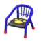 Baby Chair (Blue - Paw Print) NH Icon.png