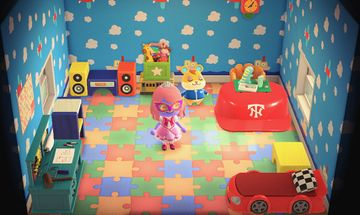 Interior of Hamlet's house in Animal Crossing: New Horizons